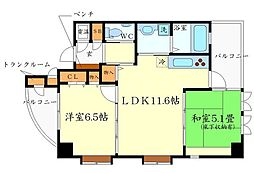 ルンガヴィータ[2階]の間取り