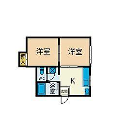 オノザワハイツ[2階]の間取り
