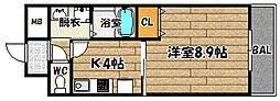 大阪府摂津市別府3丁目の賃貸アパートの間取り