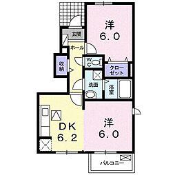 サンガーデン和泉 壱番館[0101号室]の間取り