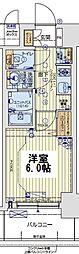 レオンコンフォート京橋EAST 6階1Kの間取り