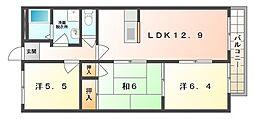 パークサイド寝屋川[1階]の間取り