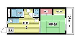 大豊マンション[203号室]の間取り