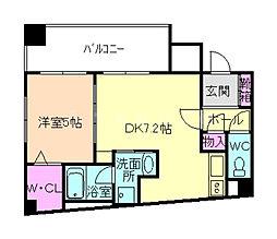 セイワパレス新梅田[6階]の間取り