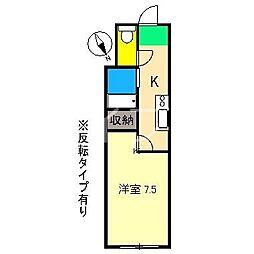 ピュアコート高須[2階]の間取り