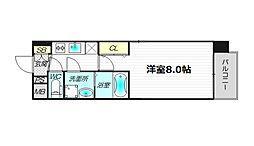 レジュールアッシュ都島[4階]の間取り