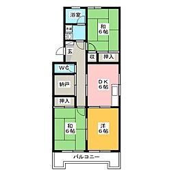 エルヴェ井尻B[4階]の間取り