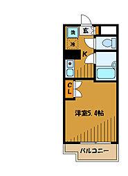 東京都小平市学園東町の賃貸マンションの間取り
