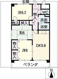 メゾンウィング[1階]の間取り