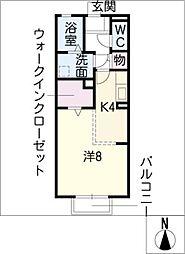 リビングタウン平井 A棟[2階]の間取り