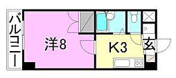 シェモア生石[203 号室号室]の間取り