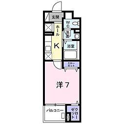 北野町マンション[0402号室]の間取り