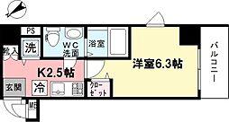 グランド・ガーラ横濱山下町[607号室]の間取り