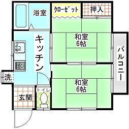 メゾンヨシノ[201号室]の間取り