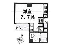 阪急神戸本線 王子公園駅 徒歩9分の賃貸マンション 8階1Kの間取り