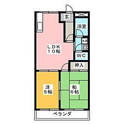 グリーンハウス A[1階]の間取り