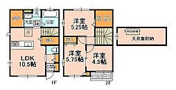 [テラスハウス] 千葉県松戸市根本 の賃貸【/】の間取り