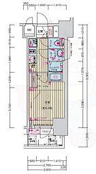 名古屋市営鶴舞線 浅間町駅 徒歩7分の賃貸マンション 9階1Kの間取り