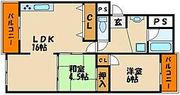 メゾン大津和[4階]の間取り