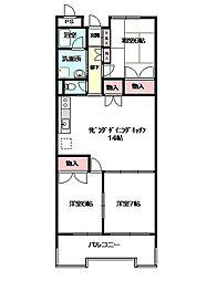 ロイヤルメゾンMAY[3階]の間取り