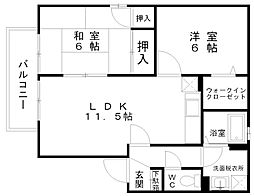 コンフォートMORI[2階]の間取り