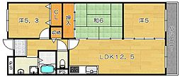 マンション菱永II[3階]の間取り