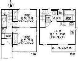 コトー恵比寿 3階2LDKの間取り