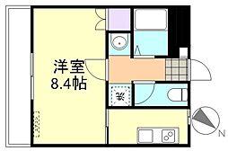 岡山県倉敷市老松町1丁目の賃貸アパートの間取り