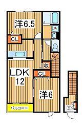 レイクタウン城山A[2階]の間取り
