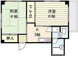 東京都北区豊島7丁目の賃貸マンションの間取り