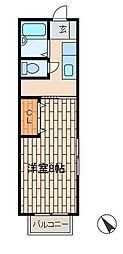 コーポさわ[1階]の間取り