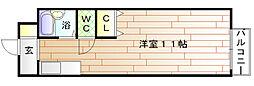 福岡県宗像市石丸3丁目の賃貸アパートの間取り
