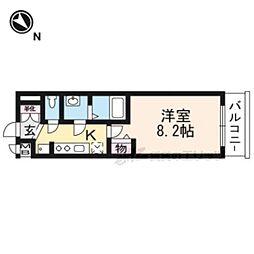 叡山電鉄叡山本線 一乗寺駅 徒歩5分の賃貸マンション 3階1Kの間取り