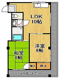 谷口ハイツ[3階]の間取り