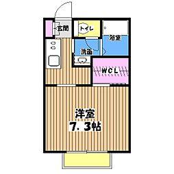東京都府中市白糸台3丁目の賃貸アパートの間取り