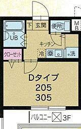 ロアール大岡山[305号室]の間取り