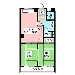 マンション北浦[1階]の間取り