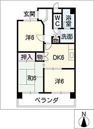 スカーラ・江向[4階]の間取り