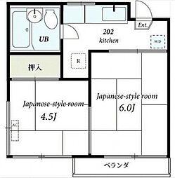 福田ハイツ[2階]の間取り