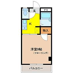 エクセルハイツ鶴賀[3階]の間取り
