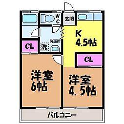 八束マンション・[2階]の間取り