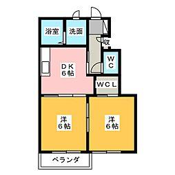 パインツリー6[1階]の間取り