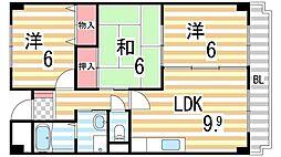 藤楓アビタシオン[510号室]の間取り
