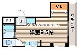 岡山県岡山市北区広瀬町の賃貸マンションの間取り
