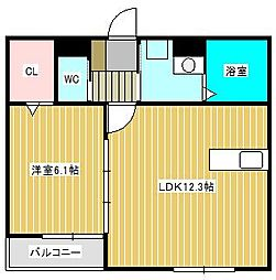 (仮)新松戸北Hハイツ[1階]の間取り