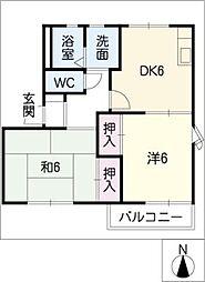 サンビューラ12[2階]の間取り
