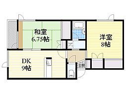 北海道札幌市西区二十四軒4条7丁目の賃貸アパートの間取り