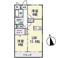 ルナパーク 1階[101号室]の間取り