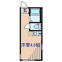 神奈川県横浜市港北区仲手原2の賃貸アパートの間取り