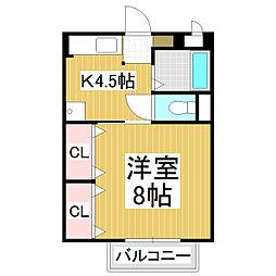 サープラスK[2階]の間取り